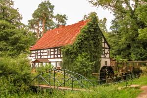Bremsdorfer Wassermühle im Schlaubetal bei Eisenhüttenstadt in Brandenburg