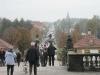 Blick auf die Schlossallee vom Schloss Moritzburg