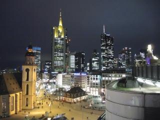 Bankenviertel in Frankfurt/ Main am Abend