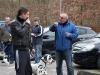 im Gespräch: Detlev mit Marcel und Dalmatiner Rektor