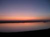 Sonnenuntergang über dem Markleeberger See