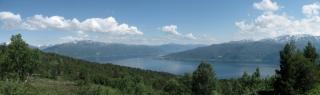 Panoramablick vom Saurdal- Hochmoor über den Sognefjord