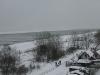 Blick vom Balkon auf den Ostseestrand