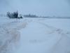 unser Zufahrtsweg - über 1,50m Schneewehen