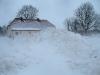 Schneeberg vor unserem Hof
