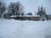 unser Haus versteckt im Schnee